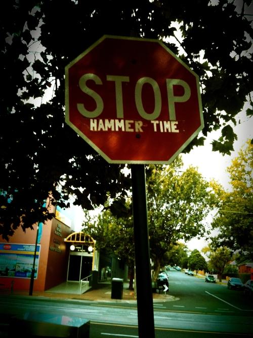 Stop, Hammer Time graffiti