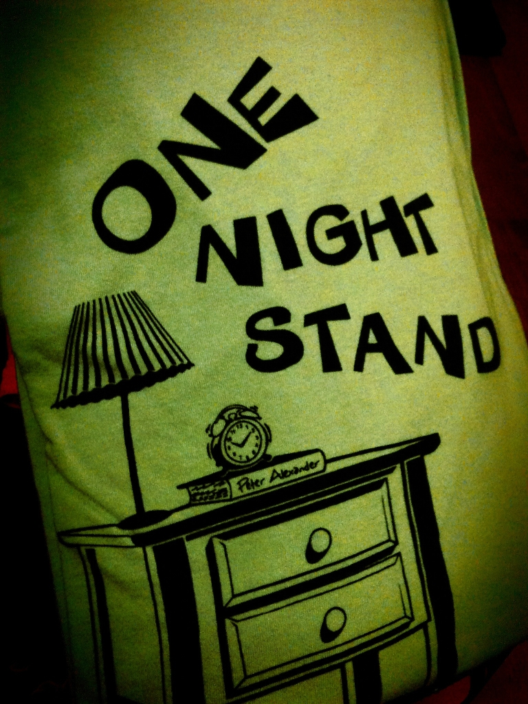 one night stand pun teeshirt
