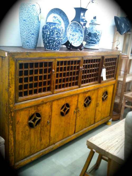 Oriental antique sideboard / buffet bar / pantry cupboard