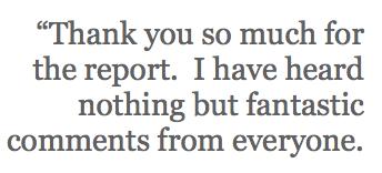 report feedback sharon pakir consulting
