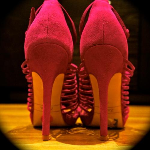 pink zara heels