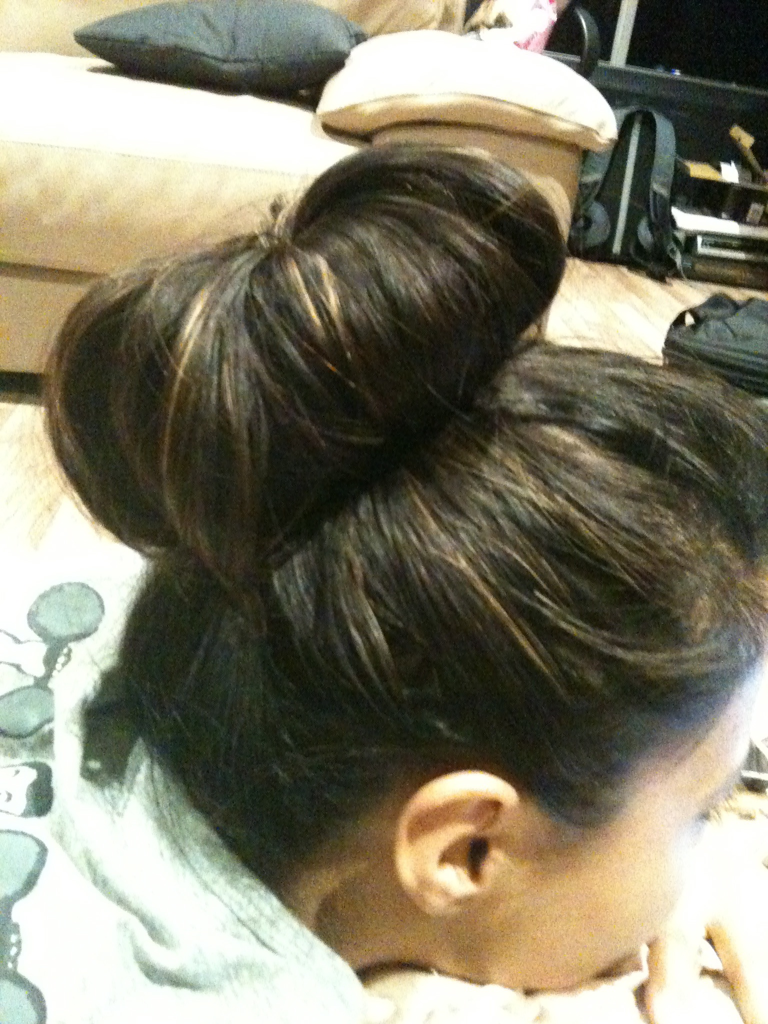 The Sock Bun - on Sharon Pakir
