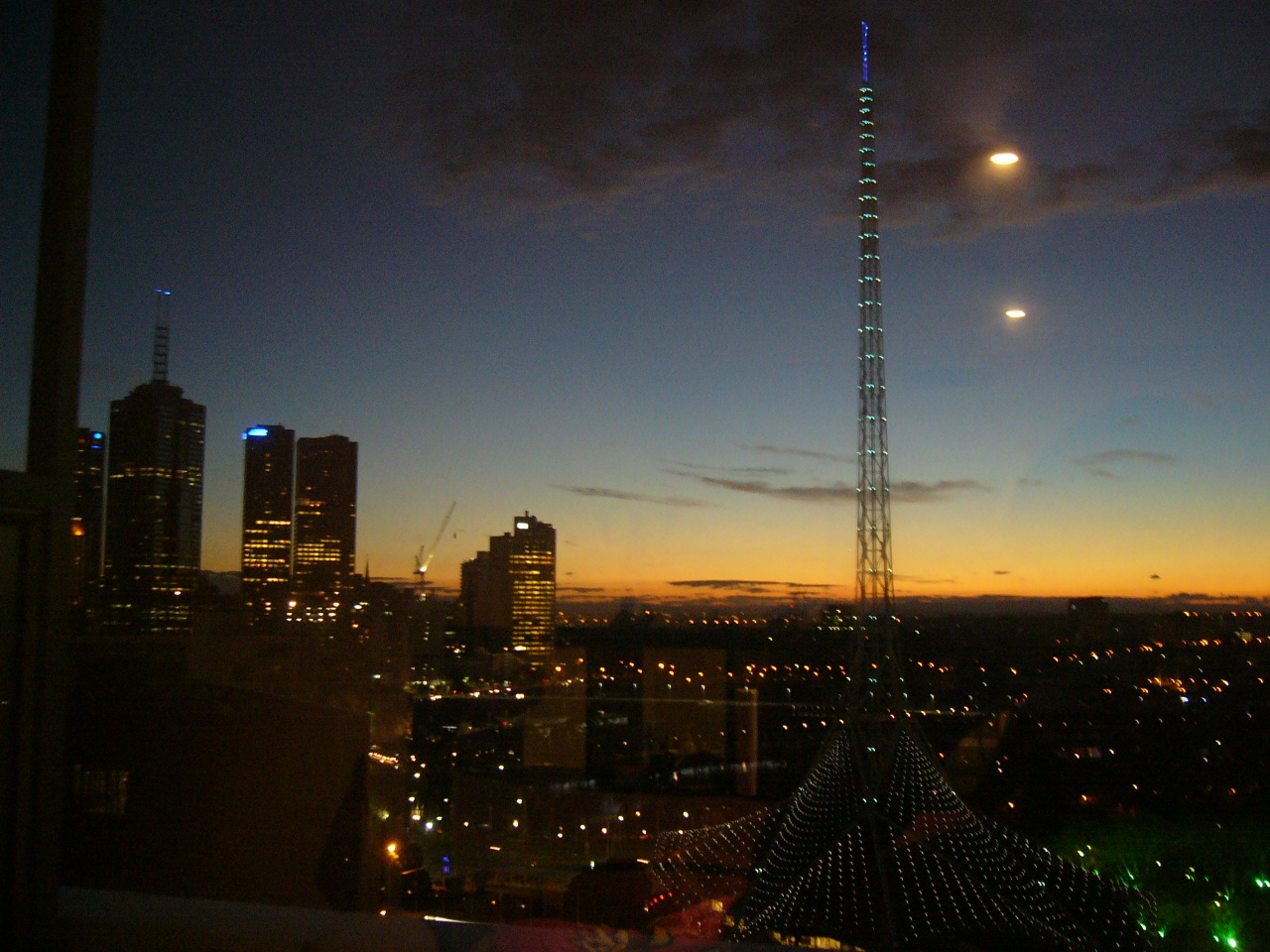 Sunset in Southbank, Melbourne