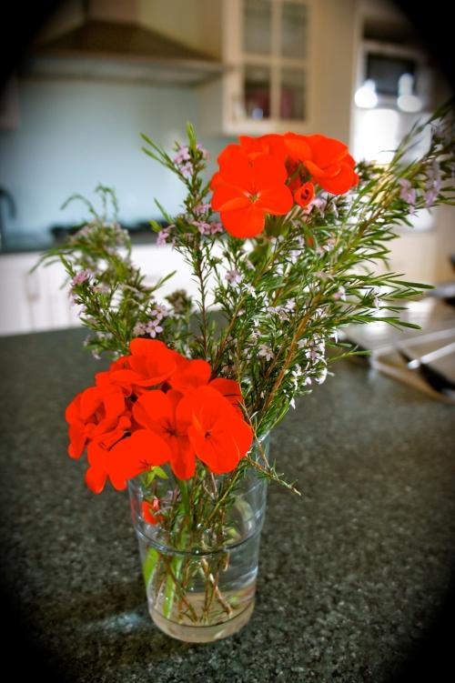 fresh flowers from garden